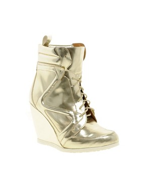 Image 1 ofASOS ARK Wedge Ankle Boots