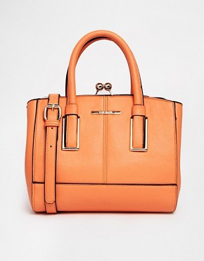 River Island Coral Mini Frame Bag (orange)