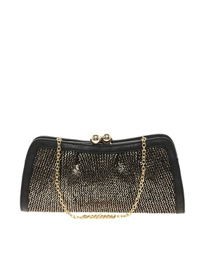 Image 1 ofOasis Metallic Bobble Foil Clutch