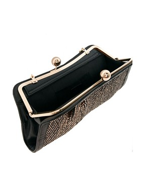 Image 2 ofOasis Metallic Bobble Foil Clutch