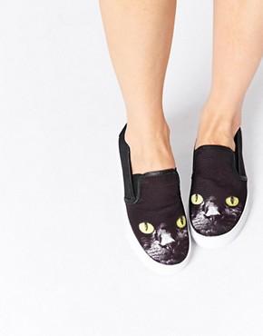 YRU Chill Kitty Slip On Sneakers