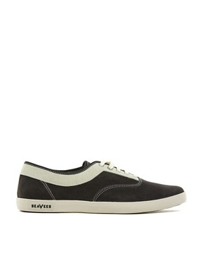 Image 4 ofSeaVees Volunteer Suede Plimsolls