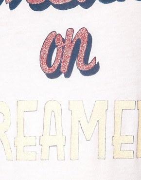 Bild 3 von ASOS  T-Shirt mit Dream on Dreamer-Aufdruck
