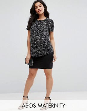 ASOS Maternity Jersey Mini Skirt