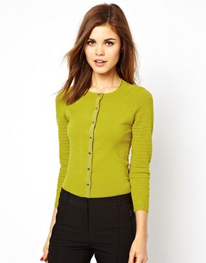 Image 1 ofKaren Millen Knitted Jumper with Raglan Ribbed Sleeves
