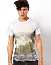 Your Eyes Lie T-Shirt with Landscape Print