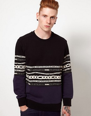 Image 1 ofChristopher Shannon Kidda Sweat with Chain Print