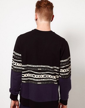 Image 2 ofChristopher Shannon Kidda Sweat with Chain Print