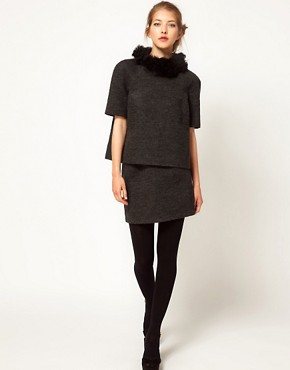 Image 1 ofLulu and Co Wool Mini Skirt