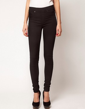 Image 1 of Warehouse Pocket Jegging In Black Denim