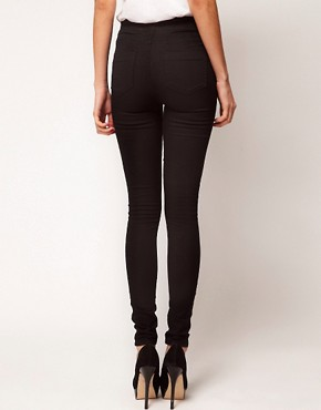 Image 2 of Warehouse Pocket Jegging In Black Denim