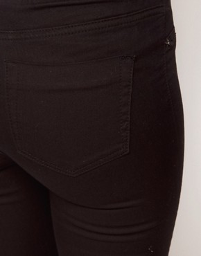Image 3 ofWarehouse Pocket Jegging In Black Denim