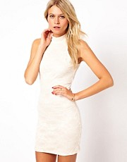 Love High Neck Dress In Lace