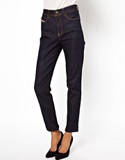 Diesel  Highkee  Knchellange Rhrenjeans mit hoher Taille