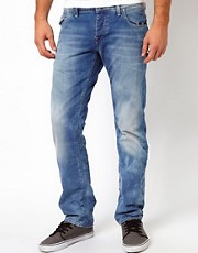 G-Star - Morris Low - Jeans dritti chiari effetto invecchiato