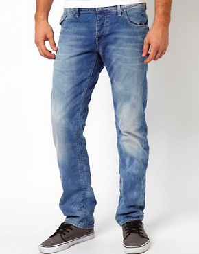 Image 1 ofG Star Jeans Morris Low Straight Light Aged