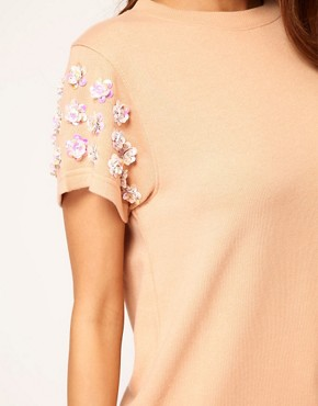 Bild 3 von ASOS  Sweatshirt mit 3D-Blumen