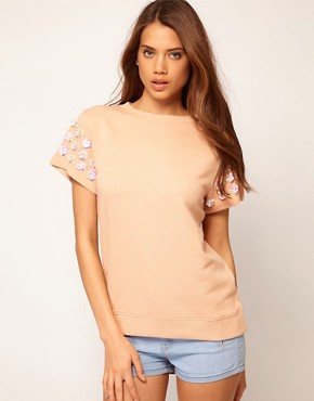 Bild 1 von ASOS  Sweatshirt mit 3D-Blumen