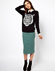 ASOS Pencil Skirt In Boucle