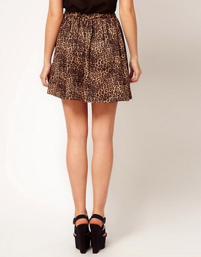 Image 2 ofGlamorous Leopard Skater Skirt