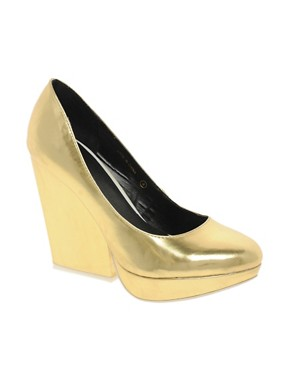 Image 1 ofASOS PRIDE Metallic Platforms