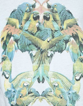 Image 3 ofOne Teaspoon Parrot Skull Regular T-Shirt