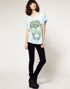 Image 4 ofOne Teaspoon Parrot Skull Regular T-Shirt