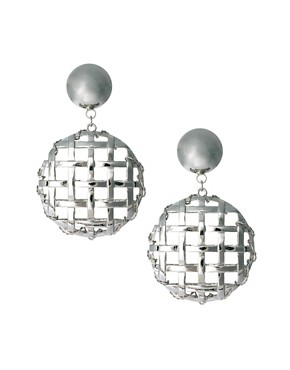 Image 1 ofASOS Lattice Doorknocker Earrings
