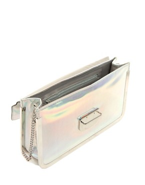 Image 2 ofNew Look Sally Holographic Clutch