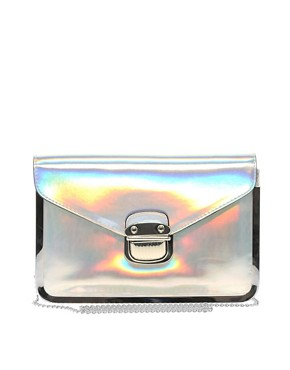 Image 1 ofNew Look Sally Holographic Clutch