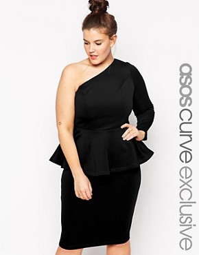 ASOS CURVE Exclusive One Shoulder Cocktail Dress