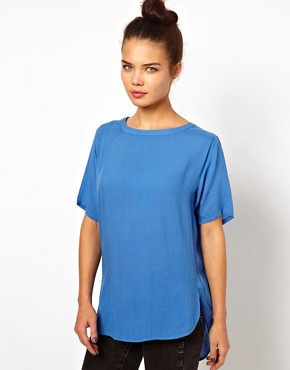 Image 1 ofWH100 by Won Hundred Light Woven Top in Textured Fabric