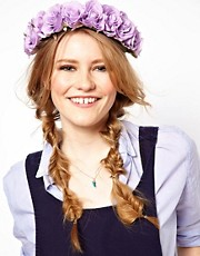 Rock &#39;n&#39; Rose Penelope Oversized Purple Floral Crown Head Band