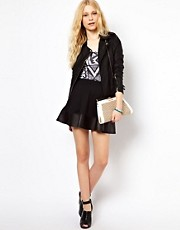 River Island Contrast Hem Skirt