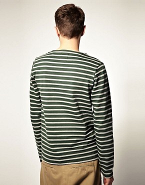 Image 2 ofASOS Stripe Heavyweight Long Sleeve Top