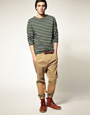 Image 4 ofASOS Stripe Heavyweight Long Sleeve Top