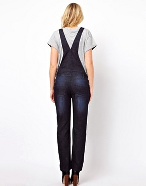 Image 2 ofASOS Maternity Soft Denim Dungarees
