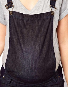 Image 3 ofASOS Maternity Soft Denim Dungarees