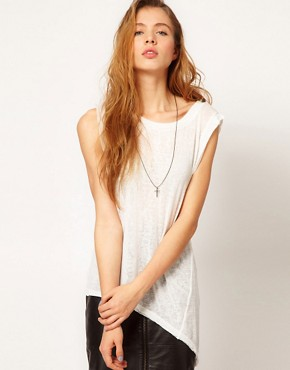 Image 1 of Gestuz Asymmetric Sleeveless T-Shirt