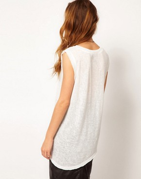 Image 2 of Gestuz Asymmetric Sleeveless T-Shirt