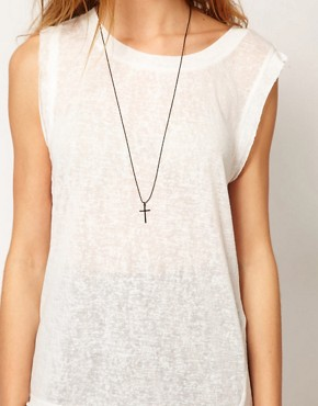 Image 3 of Gestuz Asymmetric Sleeveless T-Shirt