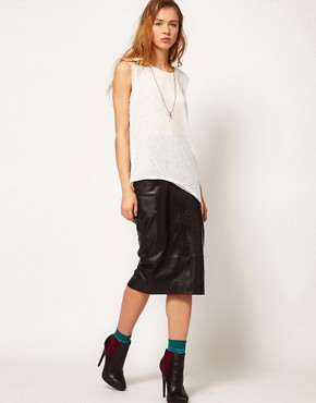 Image 4 of Gestuz Asymmetric Sleeveless T-Shirt