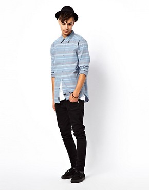 Image 4 of KR3W Stripe Shirt In Slim Fit