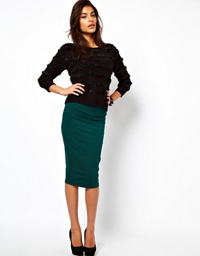 Image 1 ofASOS Pencil Skirt in Longer Length