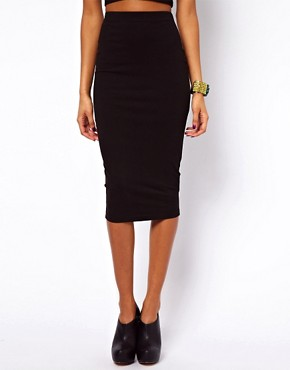 Image 4 ofASOS Pencil Skirt in Longer Length