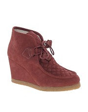 F-Troupe Wedge Burgundy Ankle Boots