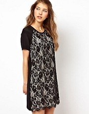 Paul and Joe Sister Lace Panel Dress in Silk