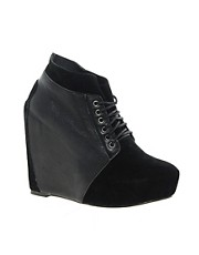 Sole Society Leather Fabrice Wedge Shoe Boots