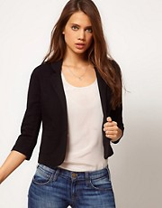 ASOS Cropped Blazer In Ponte