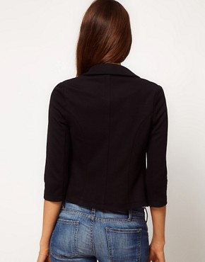 Image 2 ofASOS Cropped Blazer In Ponte